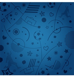 Blue soccer pattern vector