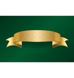 Golden foil ribbon blank banner vector