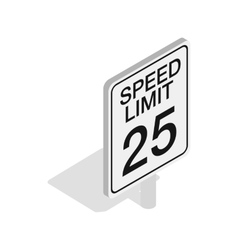 Speed limit road sign icon isometric 3d style vector
