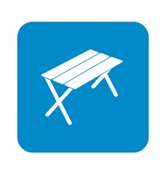 Camping table icon vector