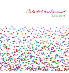 background with isolated confetti vector image