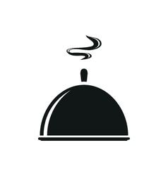 Black tray kitchenware trey isolated tray closed vector image