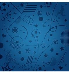 Blue soccer pattern vector