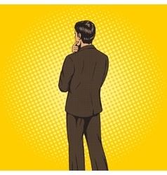 Businessman chooses pop art style vector image
