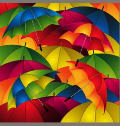 Close up umbrellas background vector