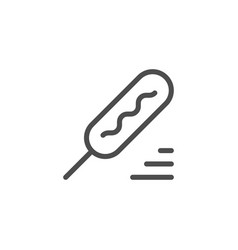 Corn dog line icon vector