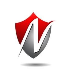 Exclusive n shield logo icon vector
