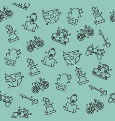 fatherhood icons set pattern vector image