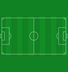 Football field scheme vector