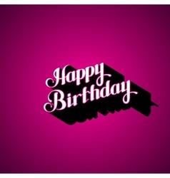 Happy birthday retro label vector