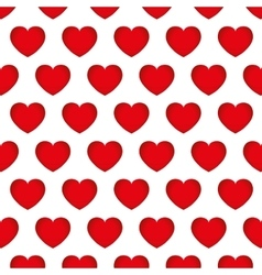 hearts love seamless pattern background design vector image vector image