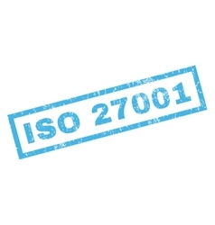 Iso 27001 rubber stamp vector