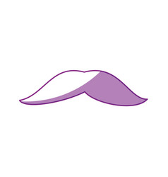 isolated cute moustache vector image