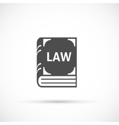 Law book icon vector