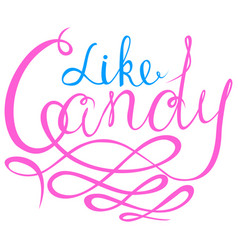 like candy - halloween party hand drawn lettering vector image vector image