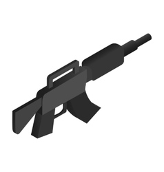 Machine gun isometric 3d icon vector