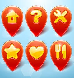 Map Markers Set vector image