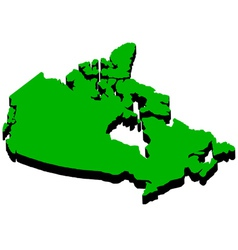 map of Canada in the amount of vector image vector image