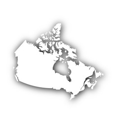 Map of canada with shadow vector
