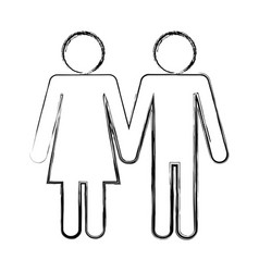 pictogram couple design vector image vector image