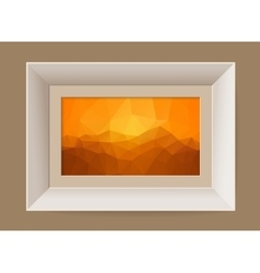 Picture frame with abstract mountain landscape vector image vector image