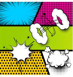pop art strip comic text speech bubble bomb vector image vector image