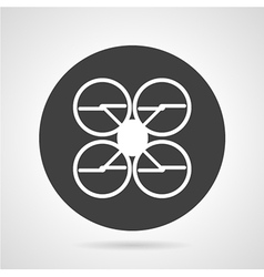 Quadcopter black round icon vector