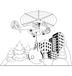 Santa Claus flying vector image