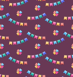 Seamless Funny Texture with Colorful Buntings for vector image