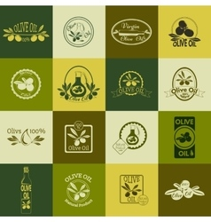 Set of olive oil labels badges and logos for vector image vector image