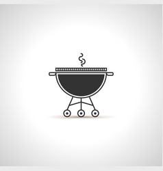 simple grill icon black emblem vector image vector image