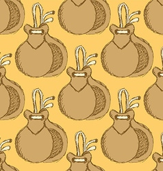 Sketch spanish castanet in vintage style vector image vector image
