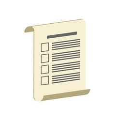 Survey test or voting symbol flat isometric icon vector