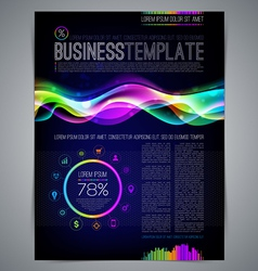 Template page design with colorful abstract shape vector image