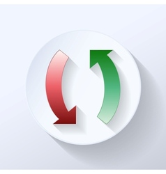 Two arrows depicting clockwise icon vector image