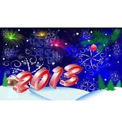 christmas 2013 vector image