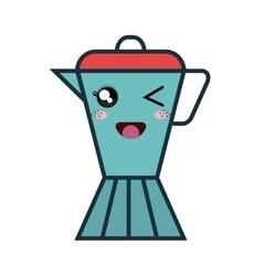 Cute kettle kawaii style vector