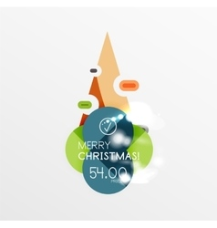 Christmas or new year promo labels and stickers vector