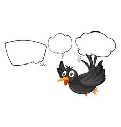 A black thinking bird vector image