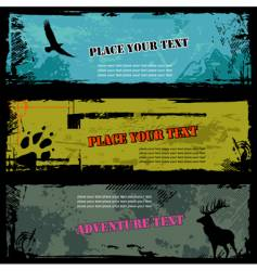 Wildlife banners vector