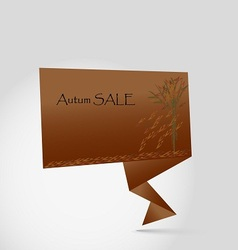 Autum sale origami vector