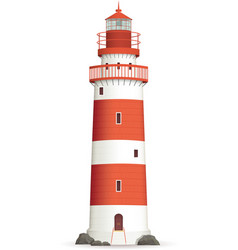 Realistic lighthouse vector