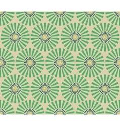 Seamless vintage circular pattern vector image