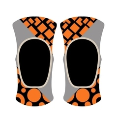 Pair of knee sport protectors activity equipment vector