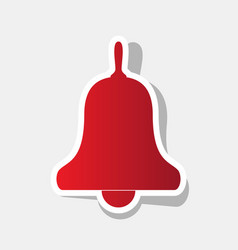 Bell alarm handbell sign new year vector