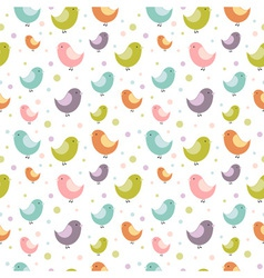 birdies seamless big vector image