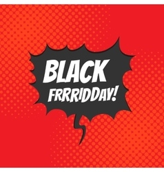 Black friday comic style vector image