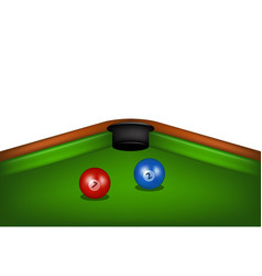 blue and red billiard balls vector image vector image