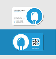 Blue business card for diode market vector
