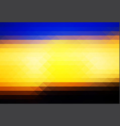 Blue yellow orange black rows of triangles vector